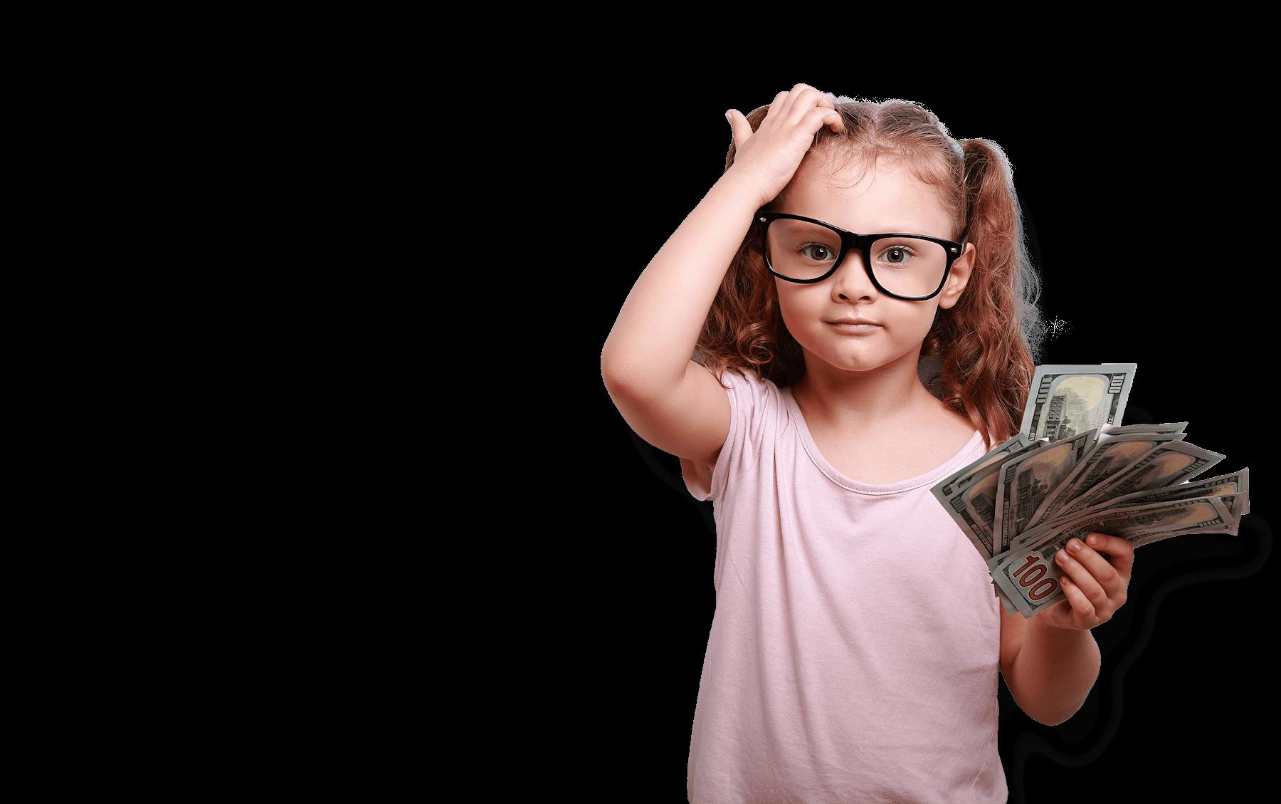 Child Holding Cash