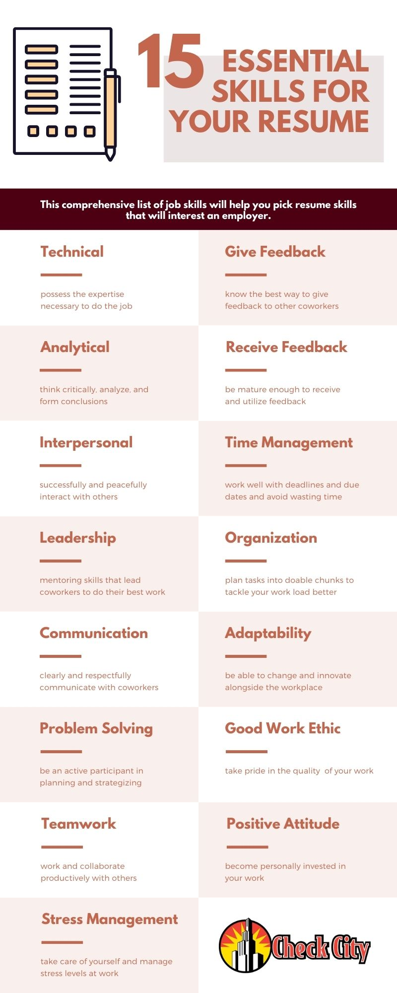 Skills for your resume infographic