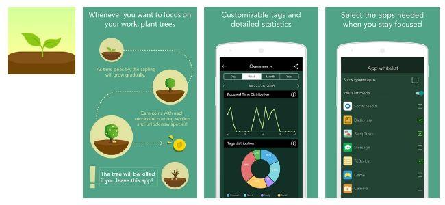 Focus Forest App Interface