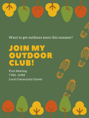 Example of outdoor club poster