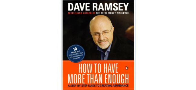 """Image of Dave Ramsey's """"How to have more than enough"""" book"""