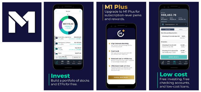 M1 Finance Investment App Images