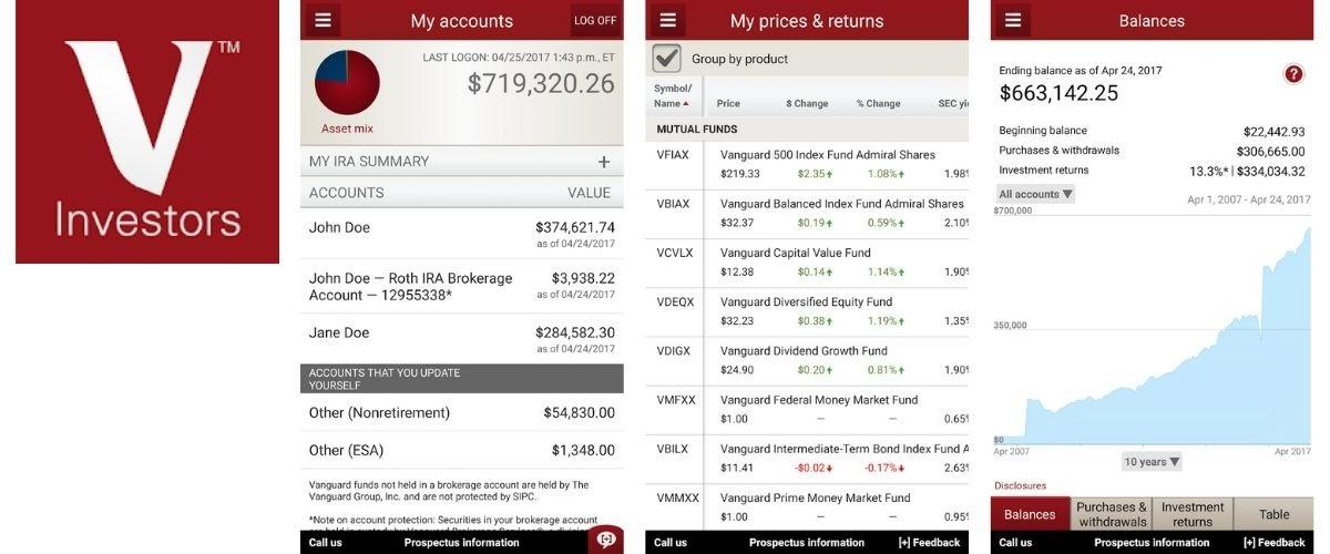 Vanguard Investments App Images