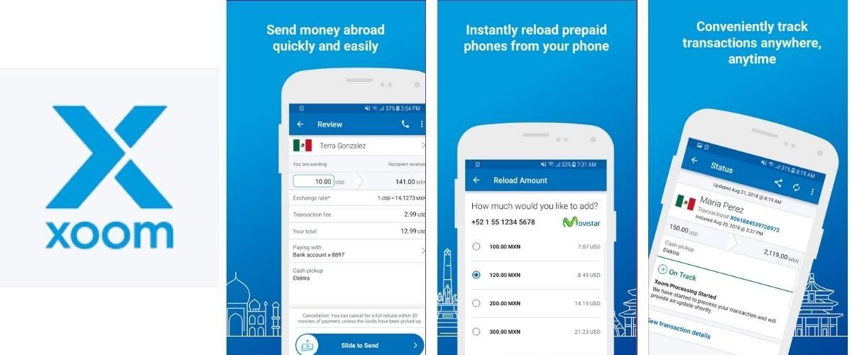 Xoom Money Transfer App Images