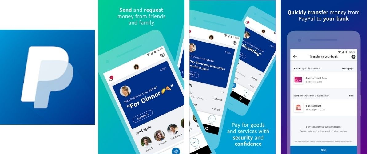 PayPal Money Transfer App Images