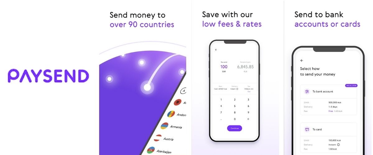 Paysend Money Transfer App Images