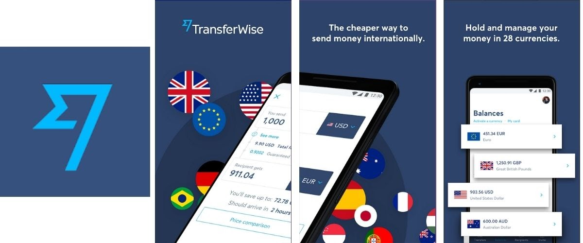 TransferWise Money Transfer App Images