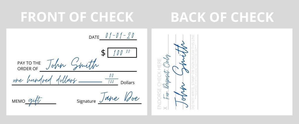 Endorse a Check for Deposit Only Example