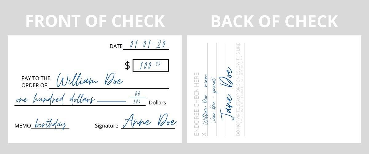 Endorse a Check for a Minor Example