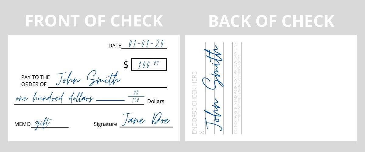 How to Endorse a Check Example