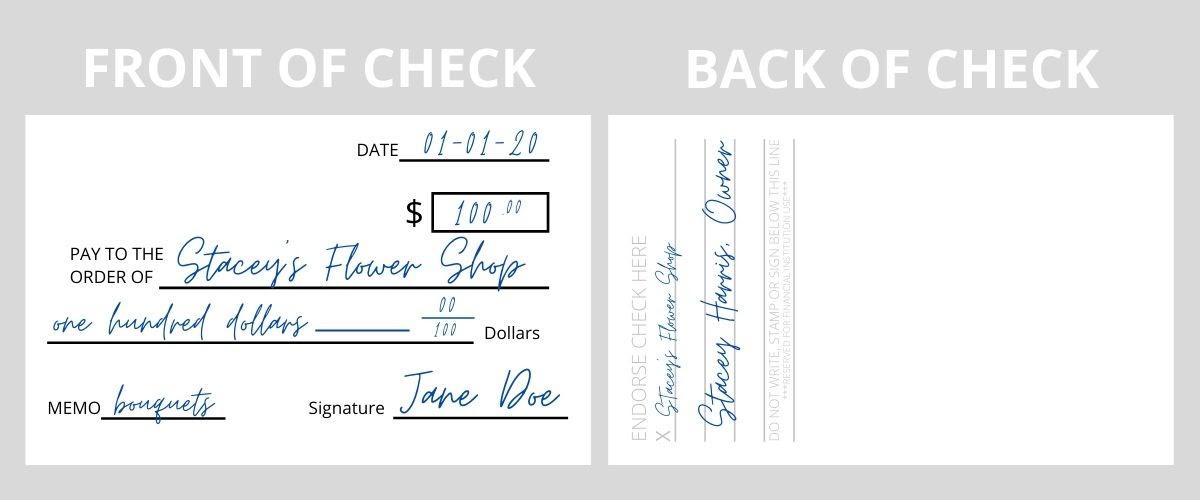 Endorse a Business Check Example