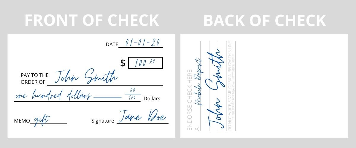 Endorse a Check for Mobile Deposit Example