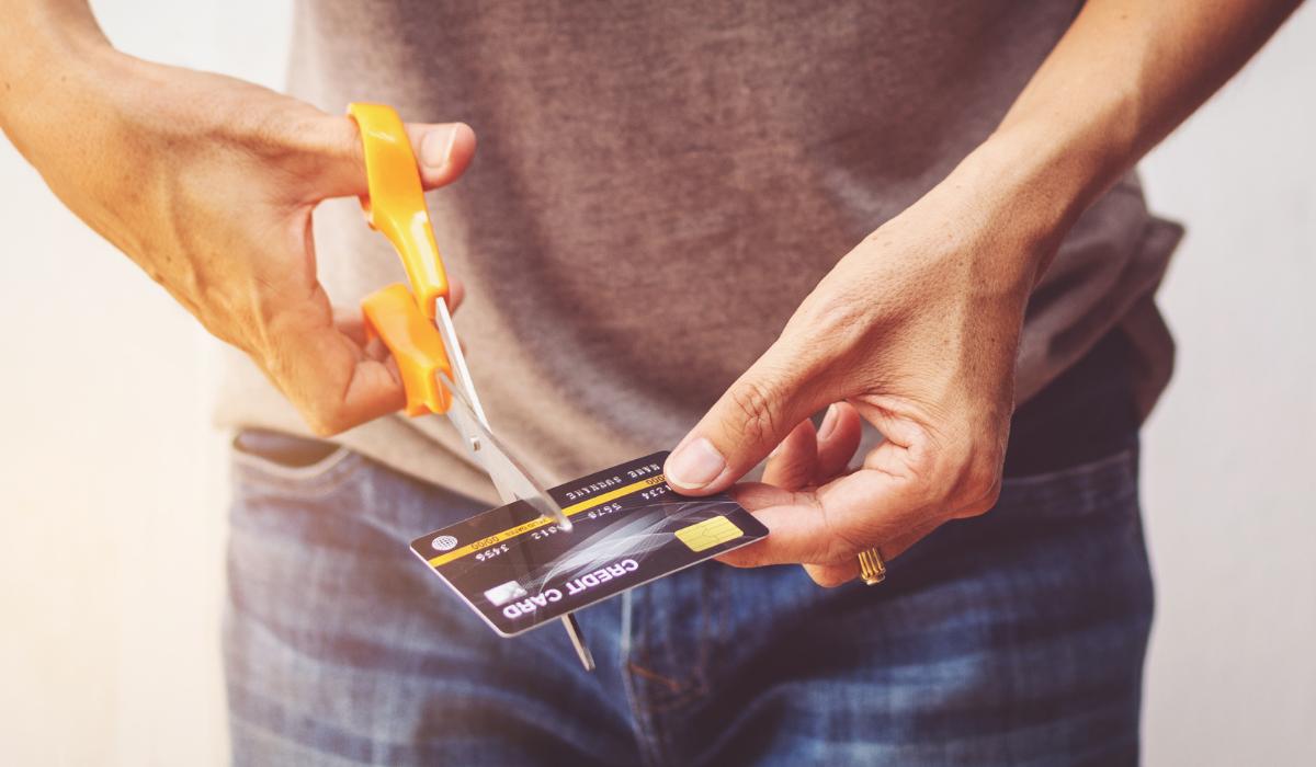 Cutting up a Credit Card