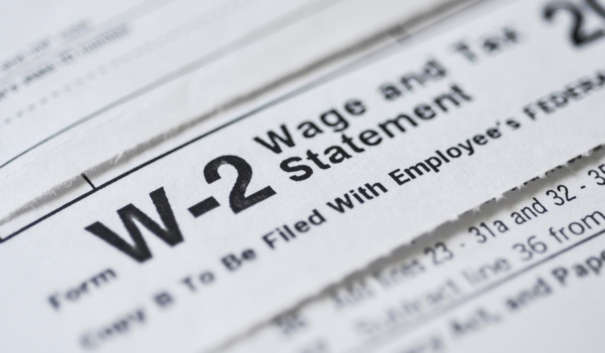W2 employee Tax form