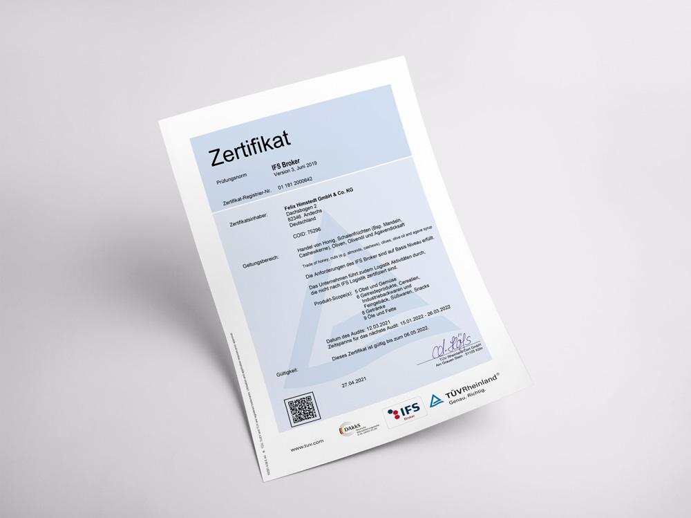 Unser Zertifikat für die Sicherheit und Qualität von Produkten zwischen Herstellung und Vertrieb.