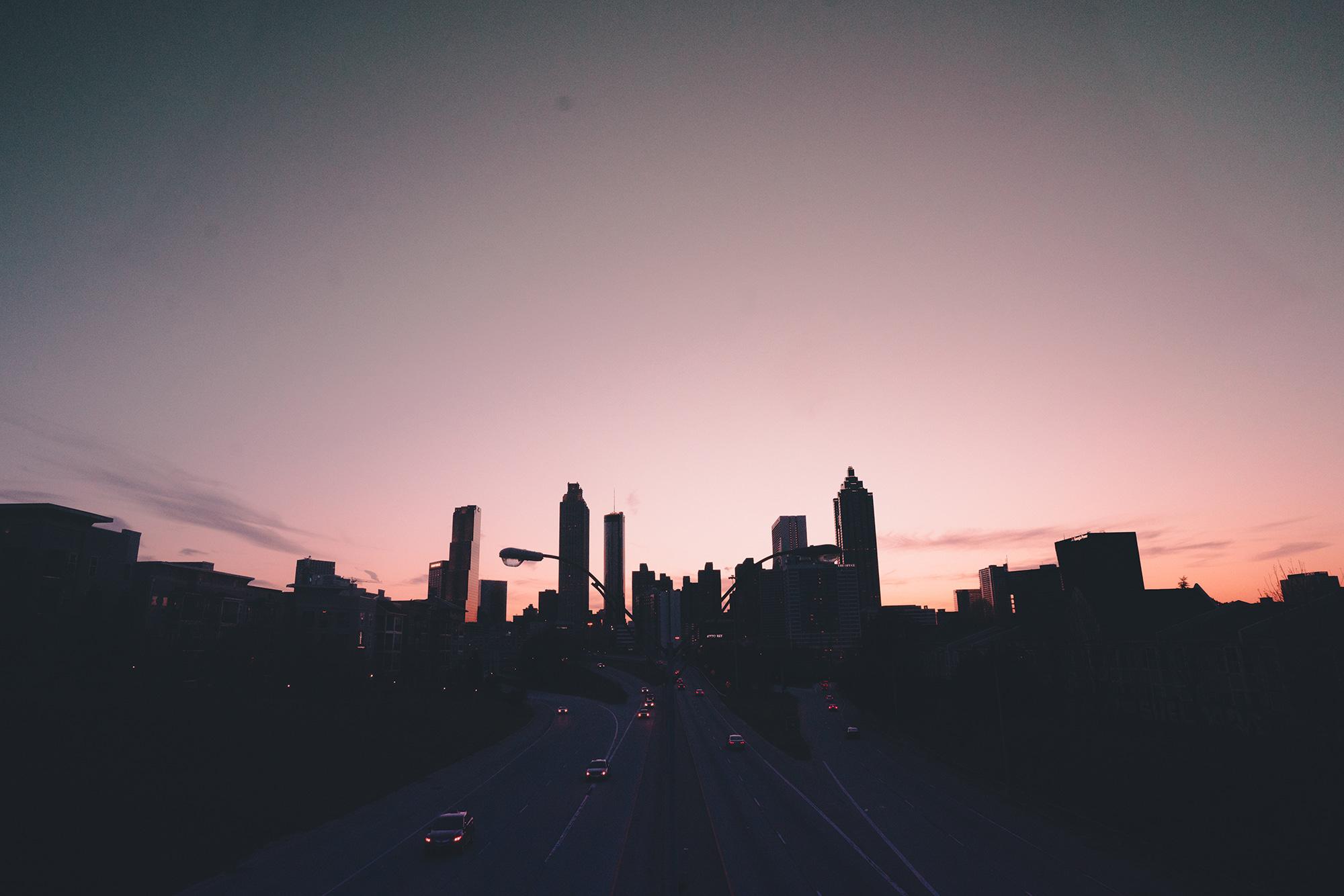 Downtown Atlanta skyline.