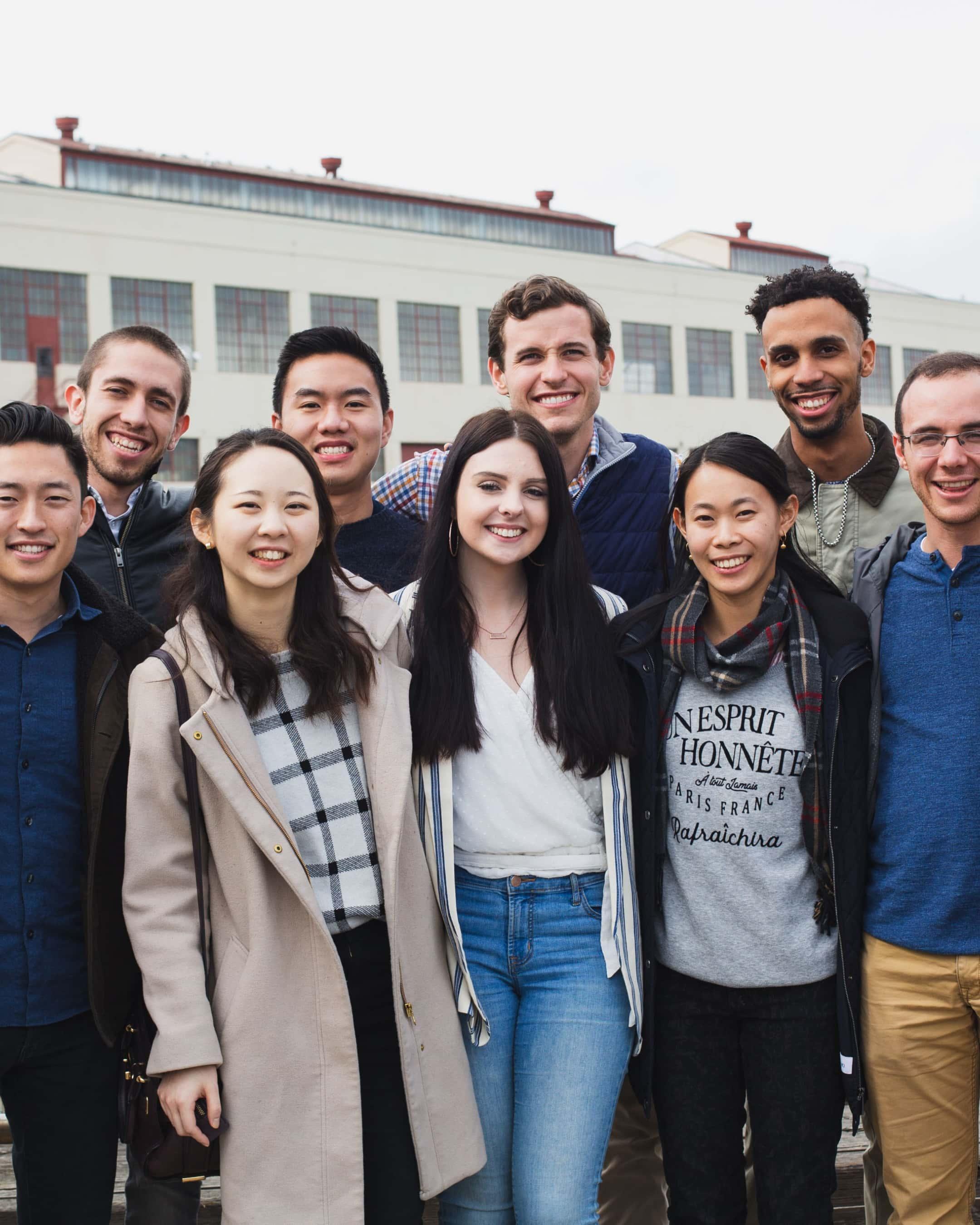Medium shot of a group of Praxis fellows.