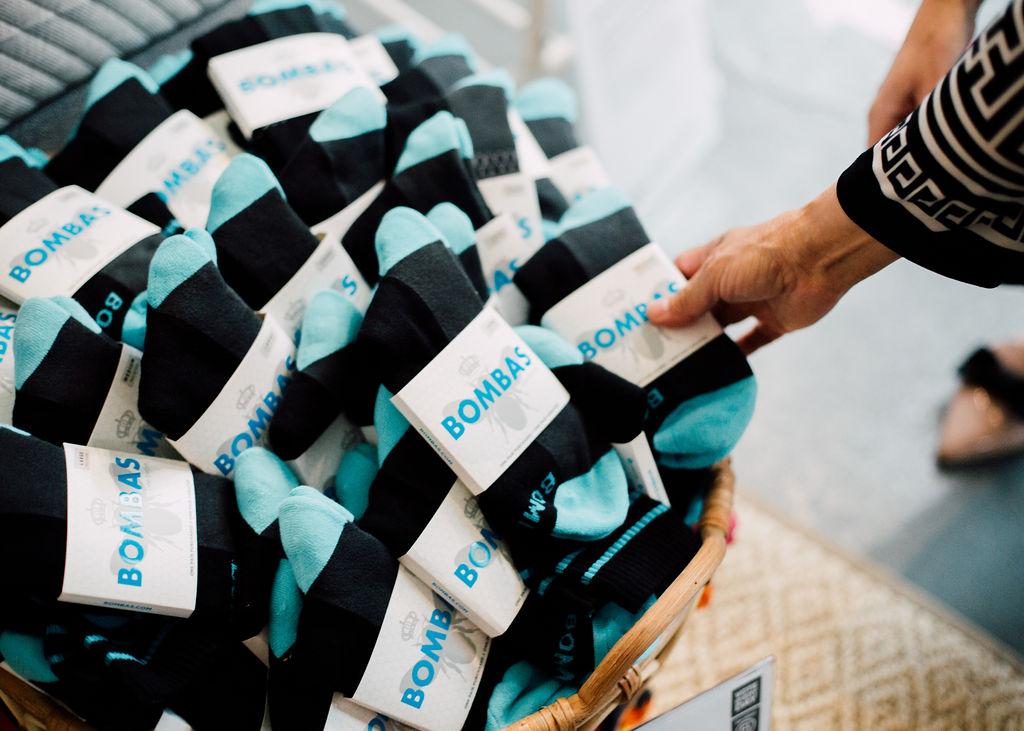Assortment of socks from Bombas