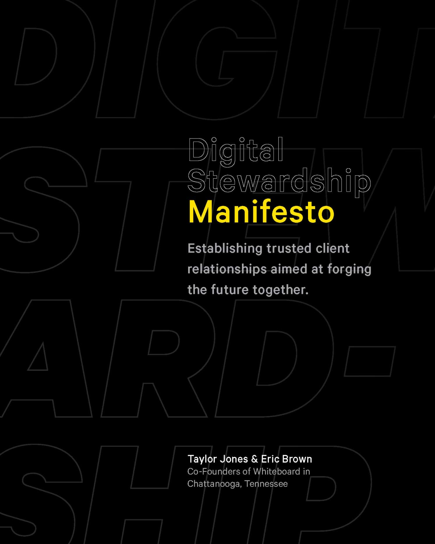 Mockup of the PDF cover for the Digital Stewardship Manifesto