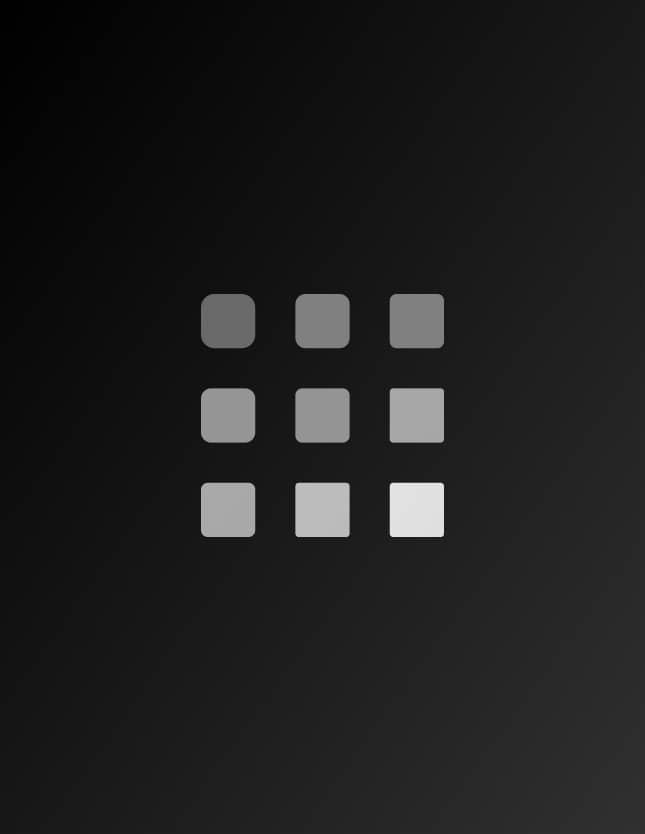 Nine squares gradating in gray tones.