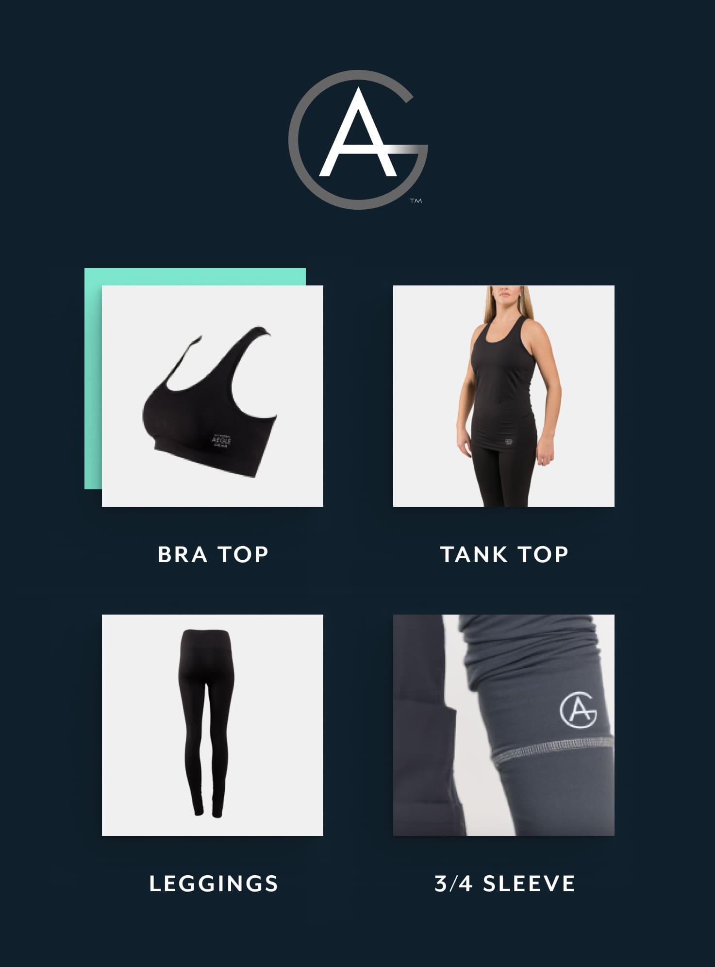 A compilation of product cards used in the Aegle Gear e-commerce store.