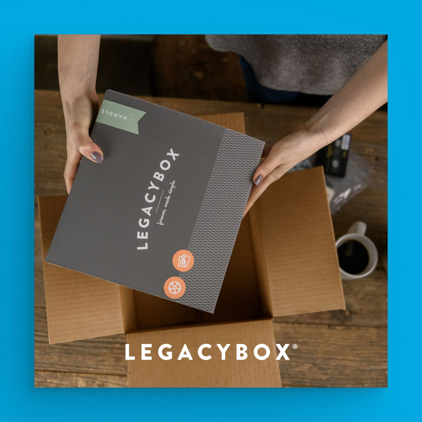 Product shot of a legacybox box.