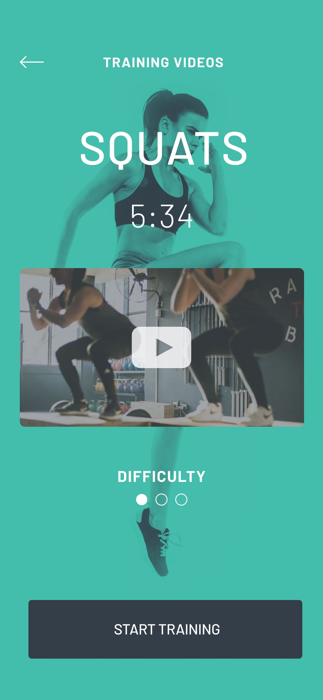 A screenshot of the Onight Fitness mobile app design.