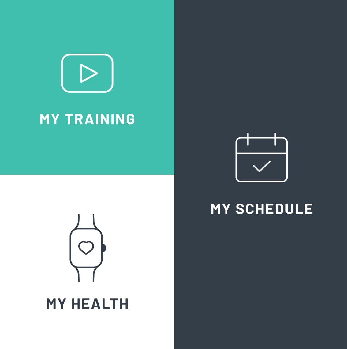 An icon grid used in the Onsight Fitness app.