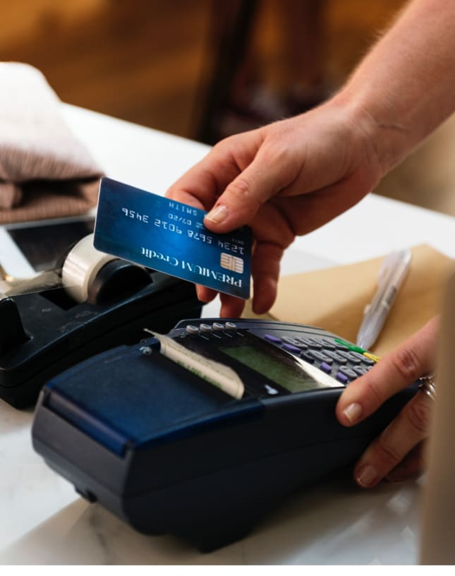 A POS credit card charging device.