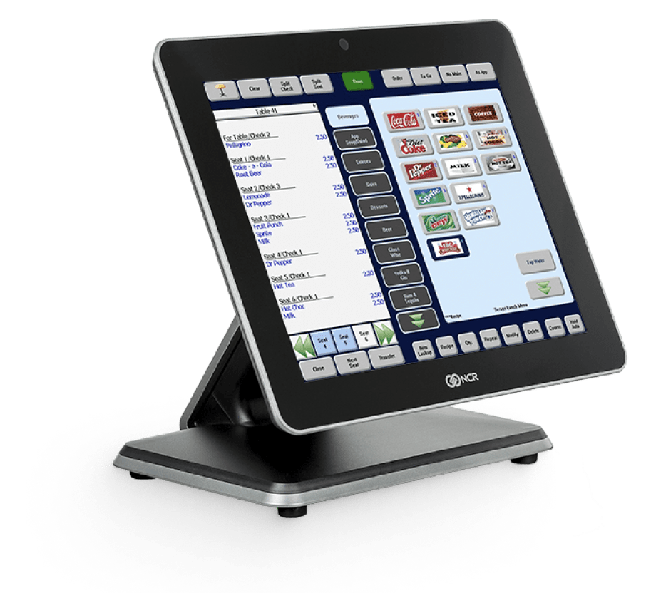 Product shot of an NCR POS device.