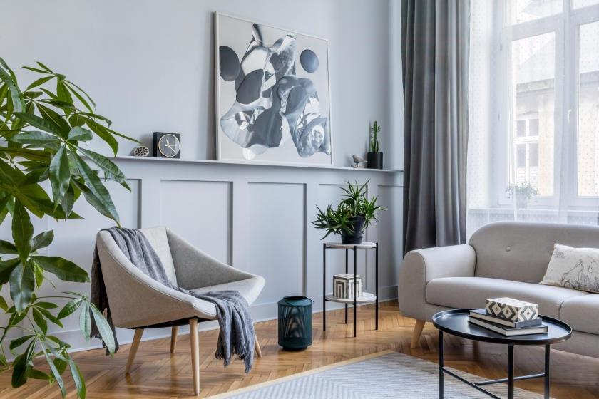 Monochromatic gray room