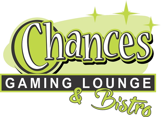 This is an image of our logo which says 'Chances Gaming Lounge and Bistro'