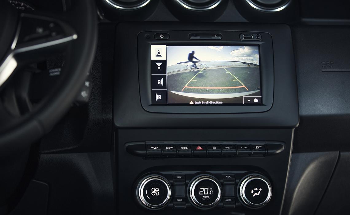 interior of Dacia Duster: Back-up camera