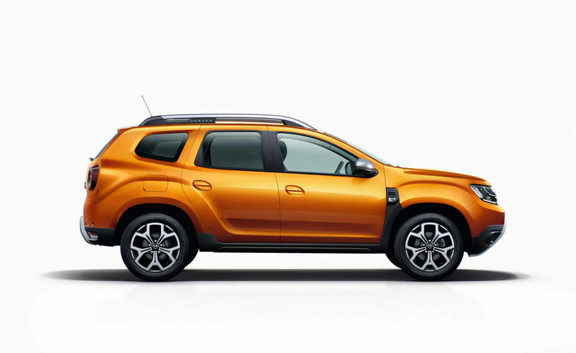 Dacia Duster with white background