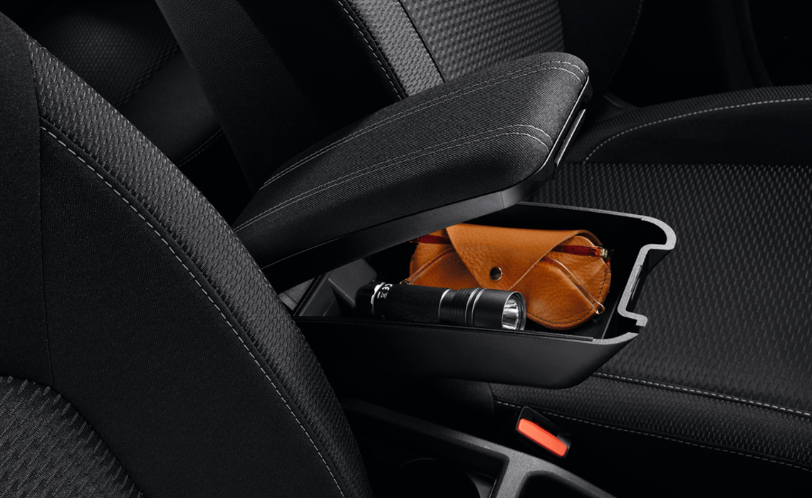 Center console with storage