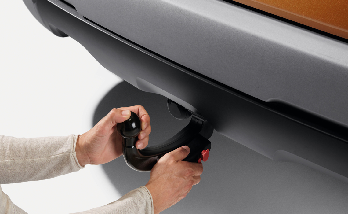 Detachable towbar for Dacia Duster