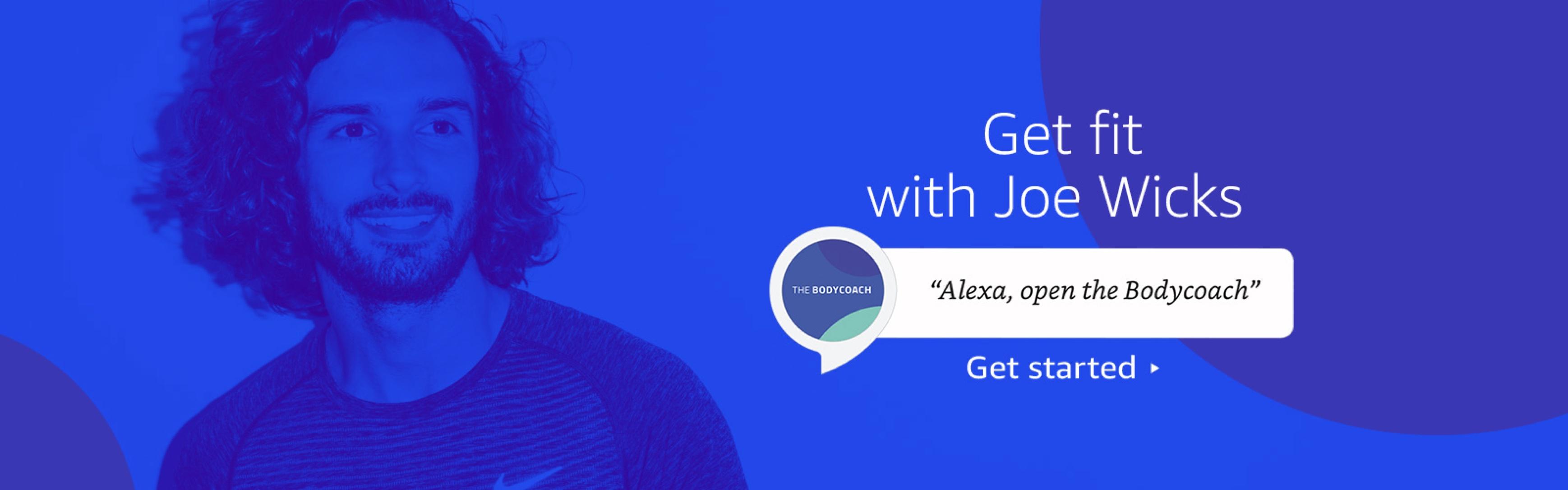 Joe Wicks on the Amzon Alexa Skill Store
