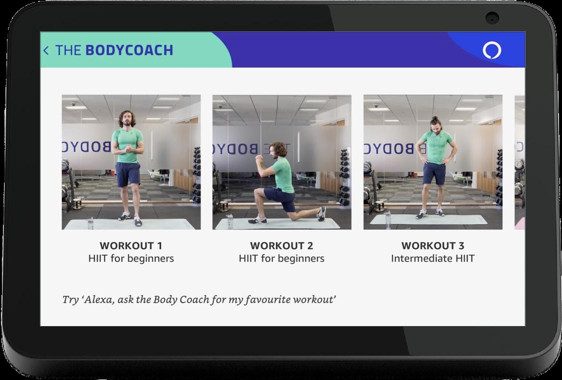 Joe Wicks The Body Coach Home Screen on Amazon Echo Show