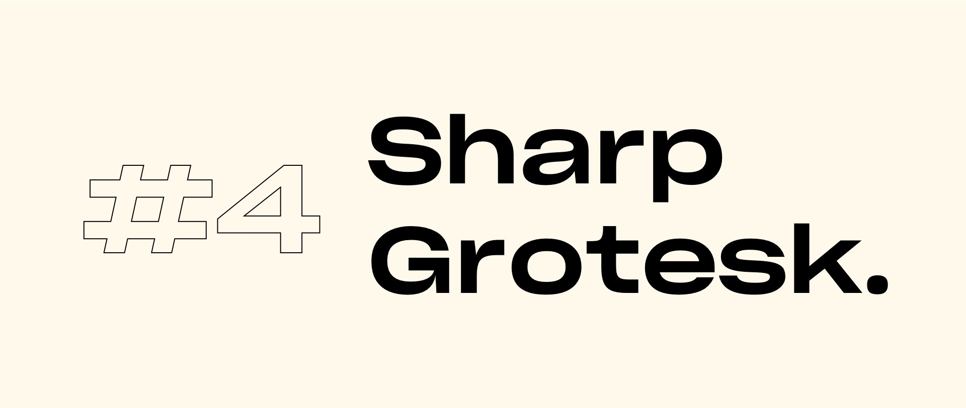 Sharp Grotesk font | Top 5 fonts for 2020 by StanVision