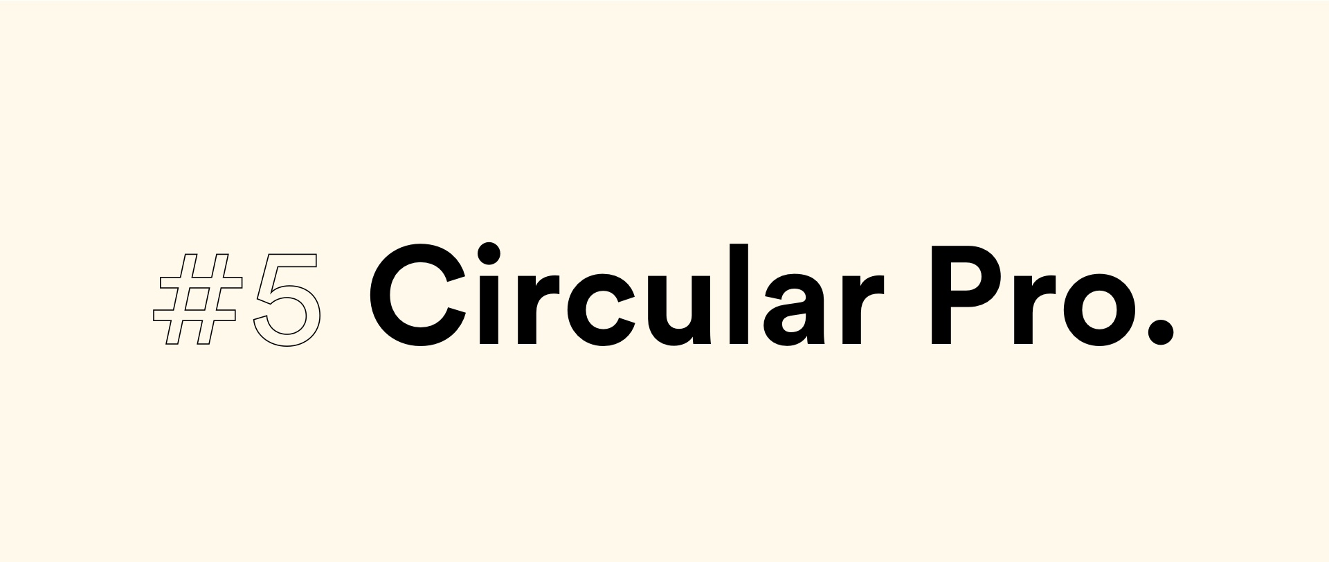Circular Pro font | Top 5 fonts for 2020 by StanVision