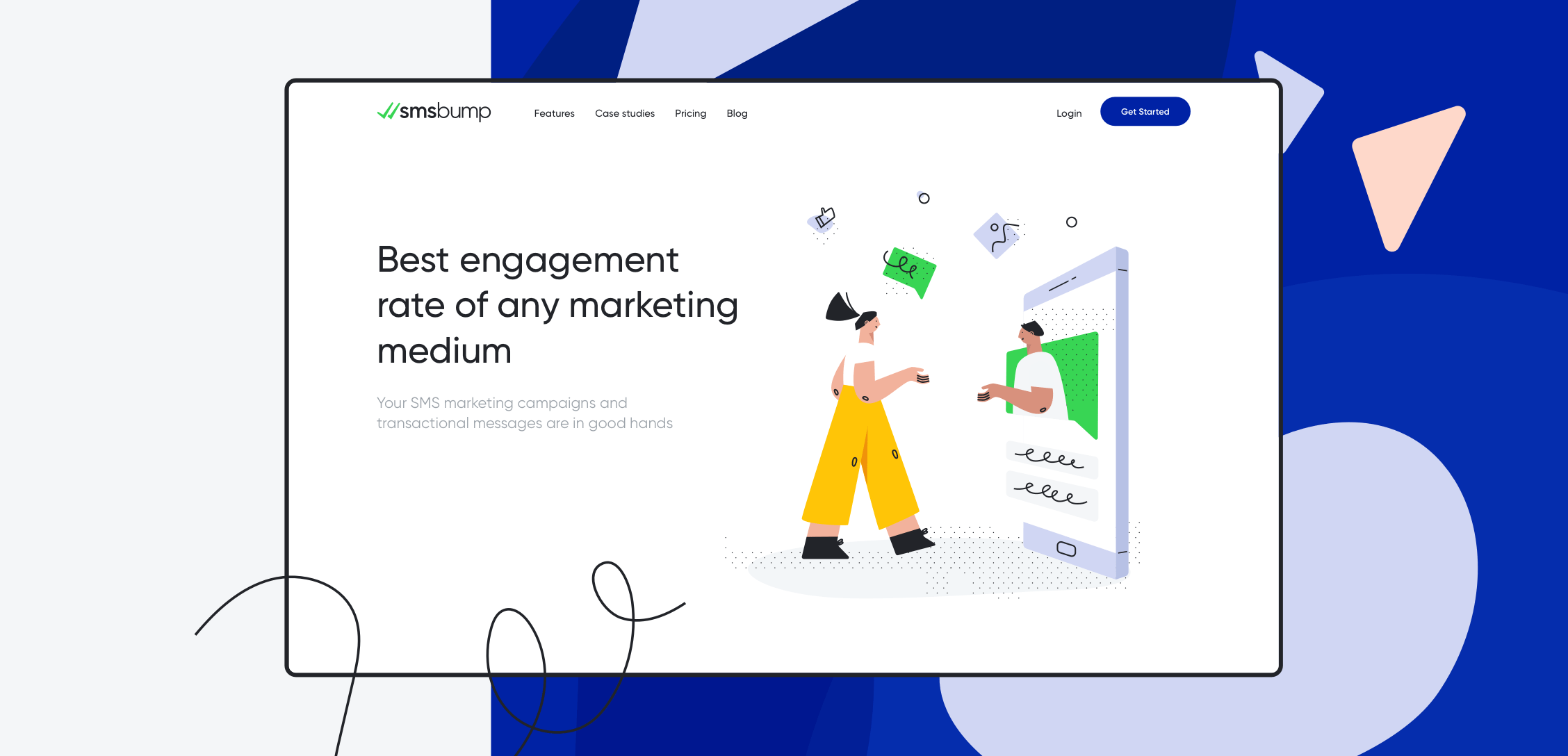 SMSBump UI UX Design by StanVision