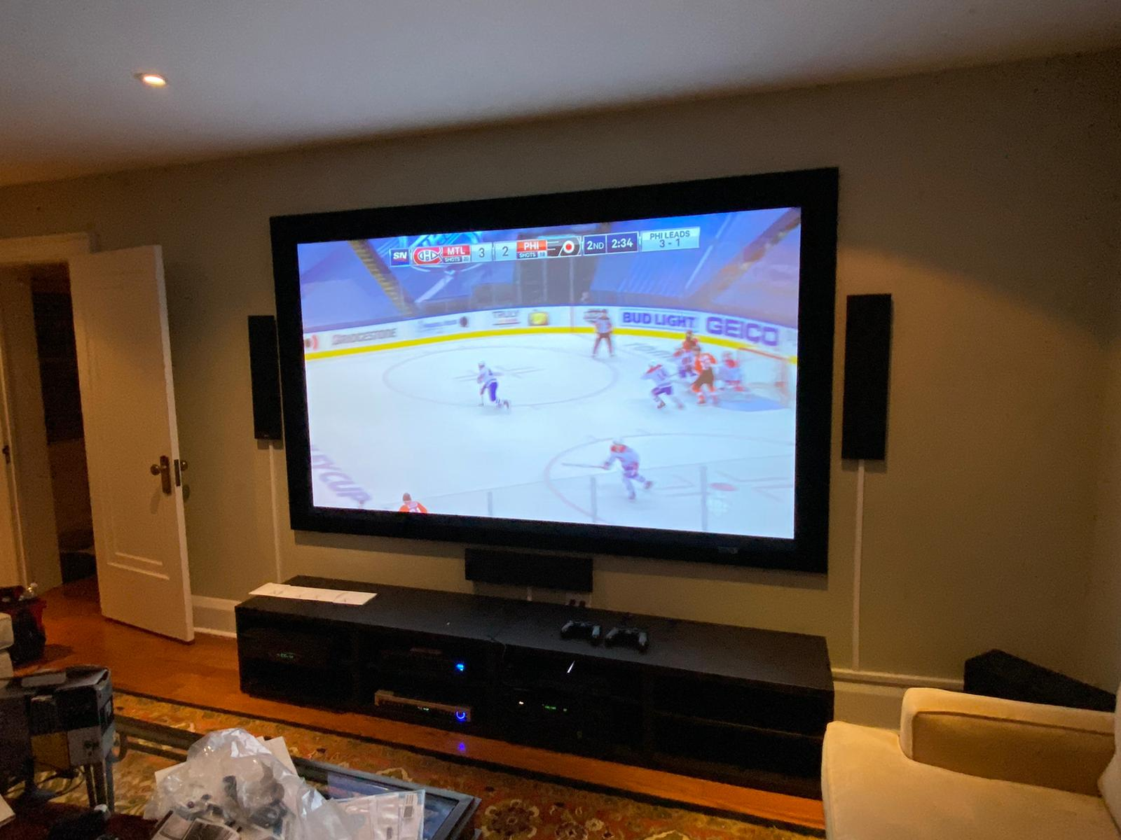 Home theatre installed by leslieville geek