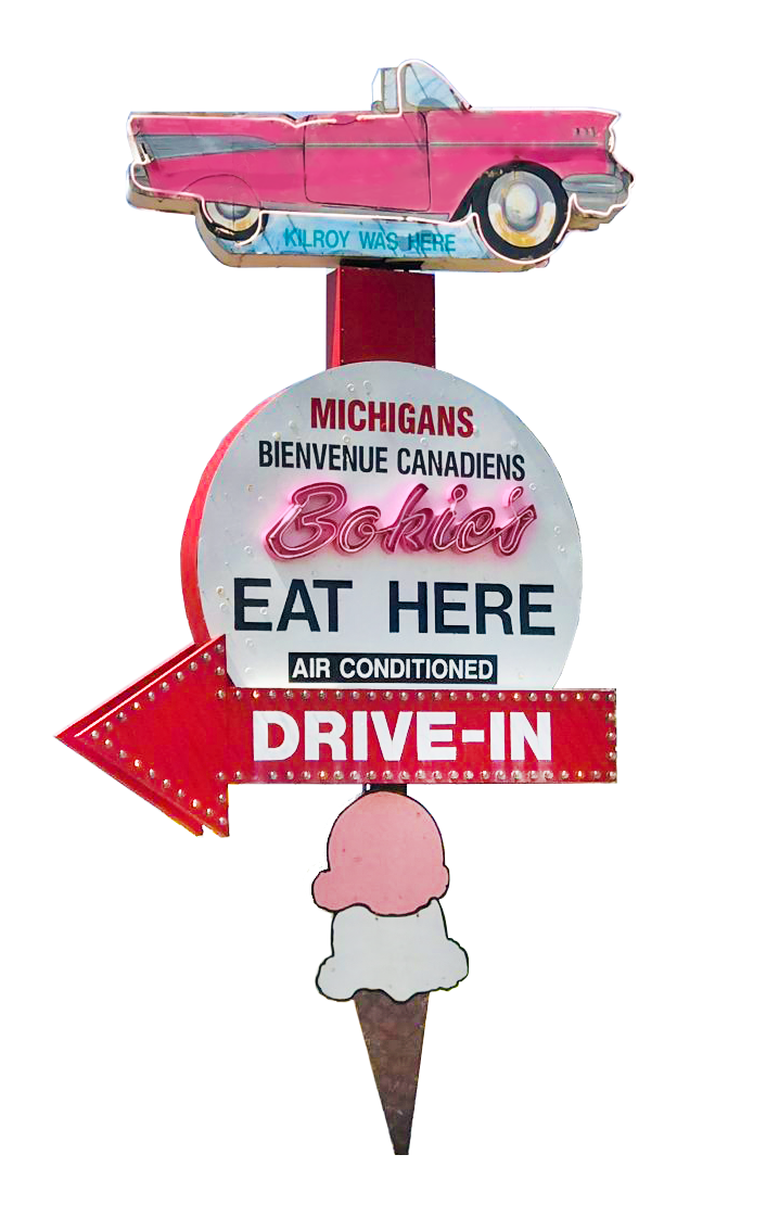 Bokie's Drive-In Sign