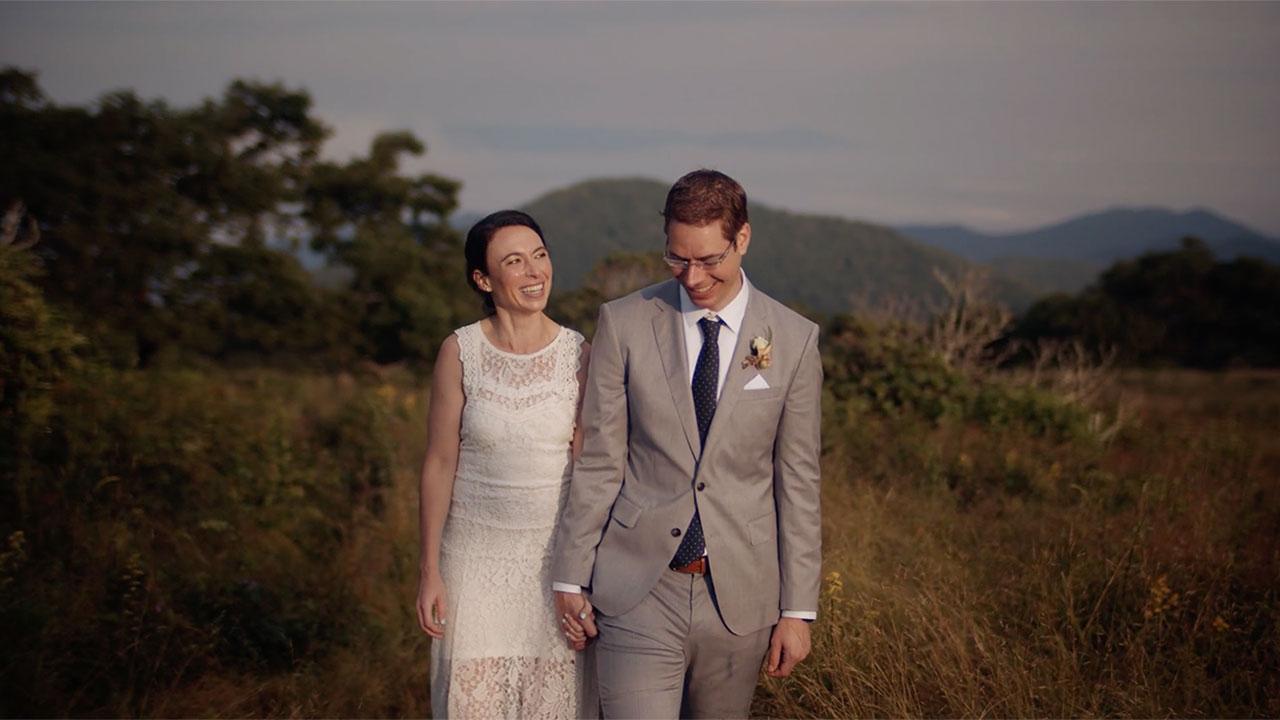 Anchor Heart Films of Asheville NC, wedding of Hannah & Andy, film still.