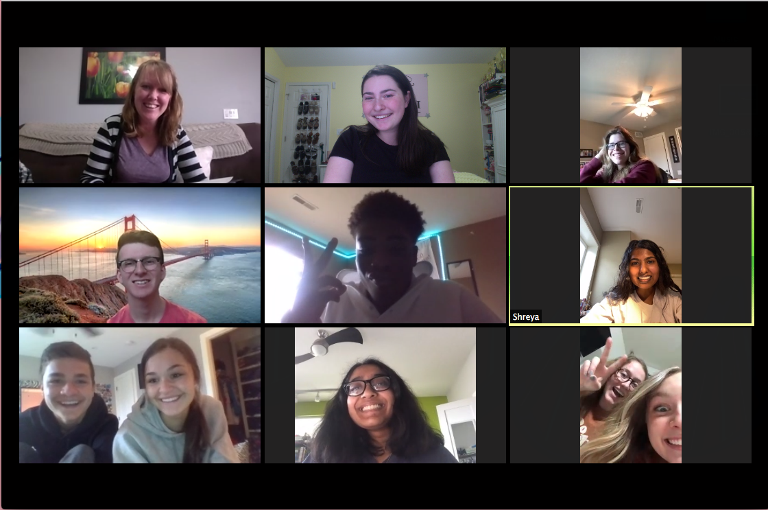 uvoice students on Zoom meeting