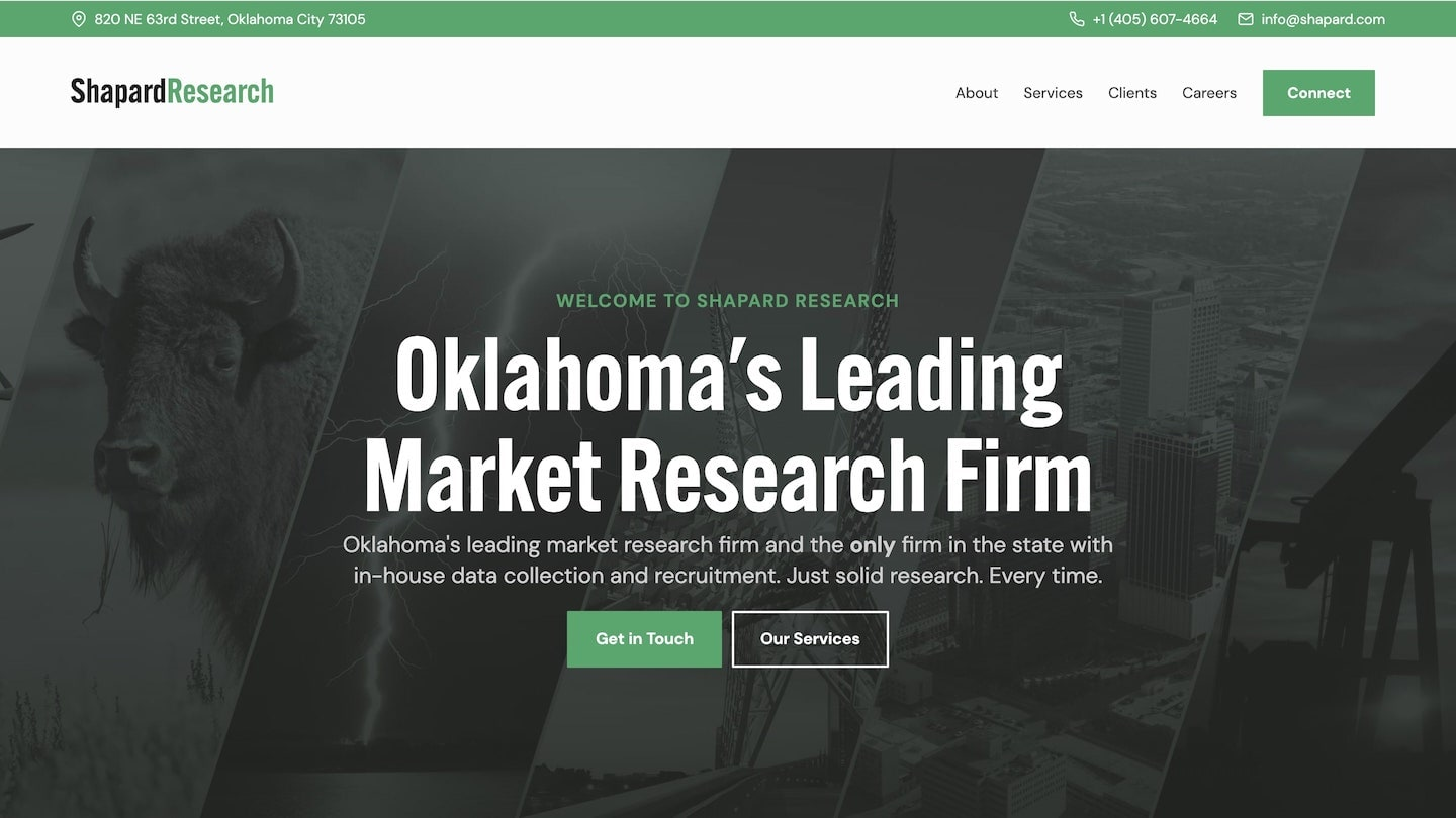 Shapard Research Website designed by Carbon Creative