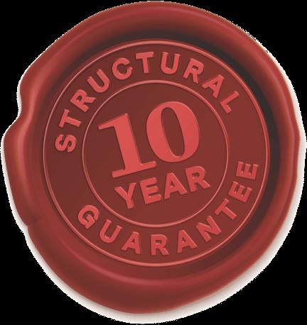 10 Year Structural Guarantee Seal