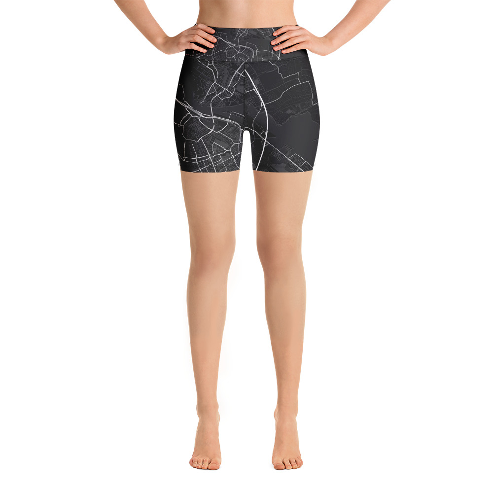 Amsterdam Black Yoga Shorts