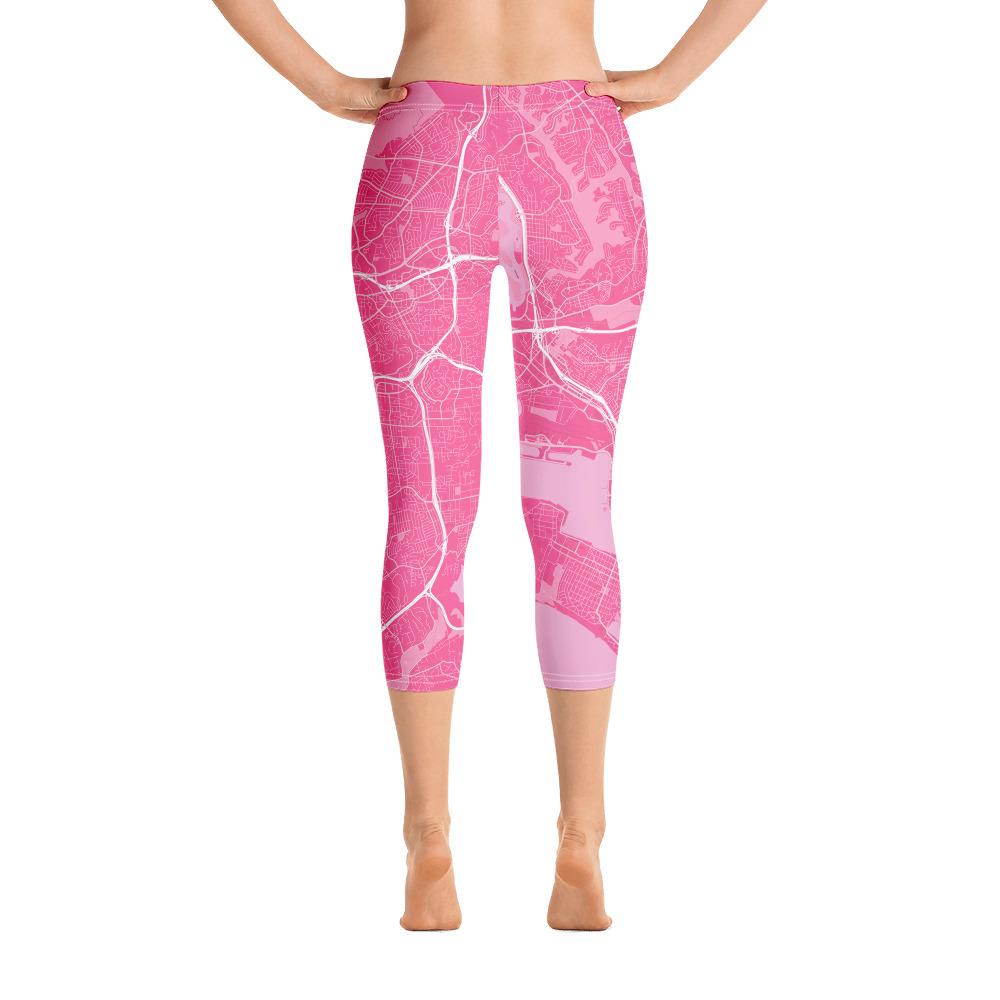 San Diego Pink Capri Leggings
