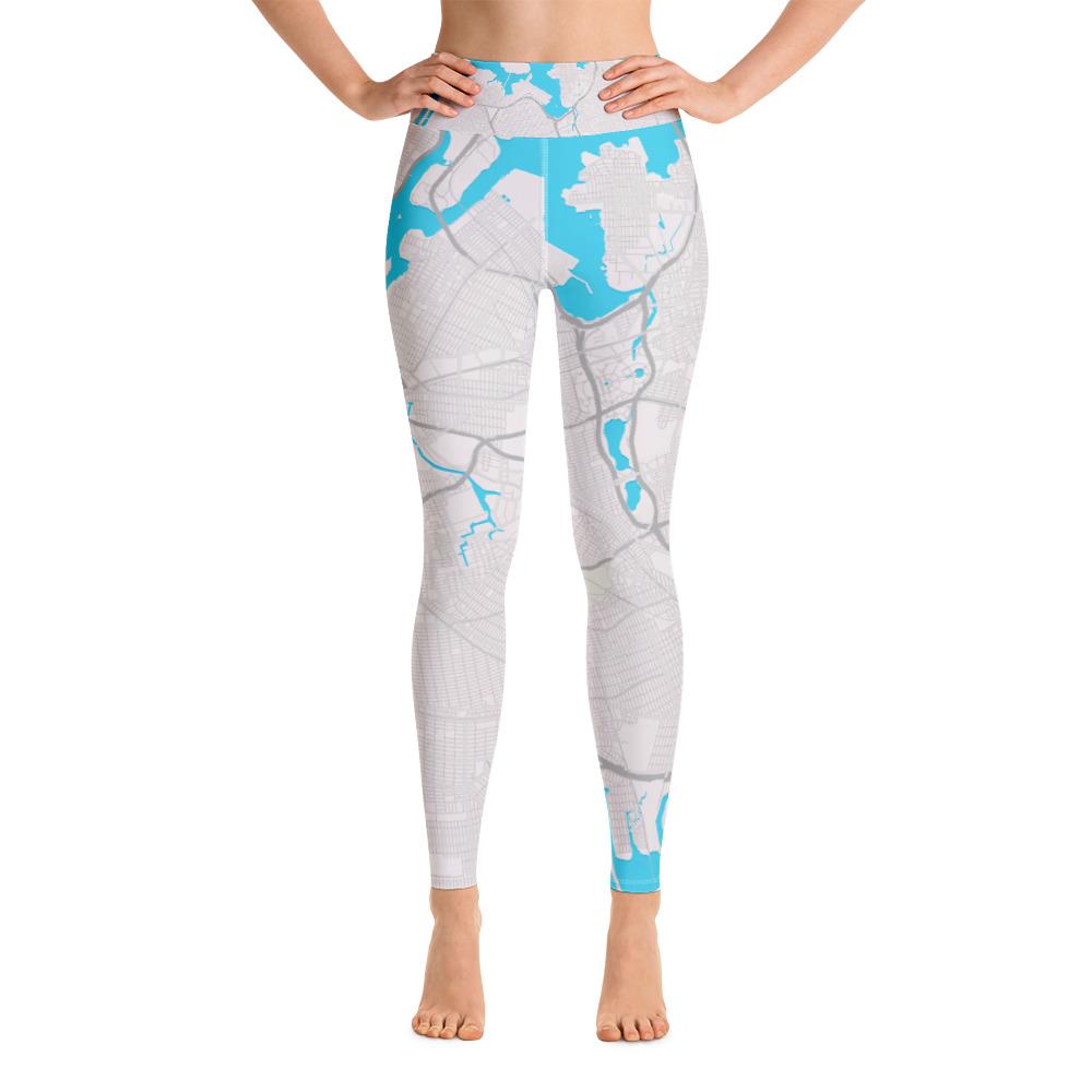 Queens New York Grey Yoga Leggings